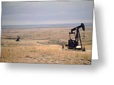 Pump Jacks Pump Oil In Rural Perryton Greeting Card