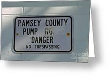 Pump Station No. 00 Greeting Card