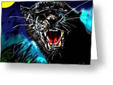 Pumpernickel Puma Greeting Card