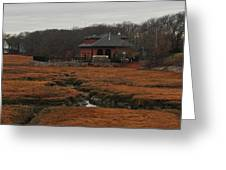 Pumping Station On The Marsh Greeting Card