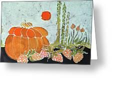 Pumpkin And Asparagus Greeting Card