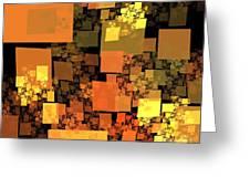Pumpkin Autumn Cubes Greeting Card