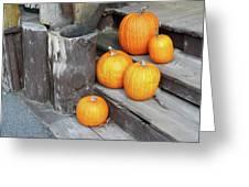Pumpkin Autumn In Adirondacks Greeting Card by Kate  Leikin