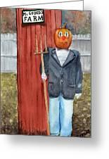 Pumpkin Farmer Greeting Card