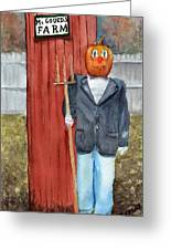 Pumpkin Farmer Greeting Card