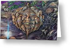 Pumpkin Morph Cycle Greeting Card