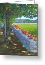 Pumpkin Muster Greeting Card