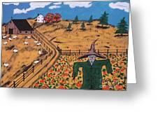 Pumpkin Patch Scarecrow Greeting Card