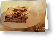 Pumpkin Pie With Walnuts Greeting Card