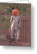 Pumpkin Scarecrow Greeting Card