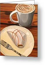 Pumpkin Scone And Pumpkin Latte Greeting Card