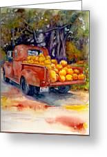 Pumpkin Truck Greeting Card