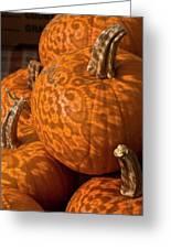 Pumpkins And Lace Shadows Greeting Card