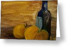 Pumpkins And Wine  Greeting Card by Steve Jorde