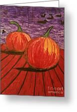 Pumpkins At The Dock Greeting Card