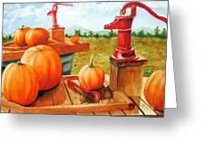 Pumps And Pumpkins Greeting Card