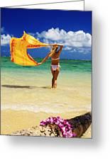 Punaluu Beach Vacation Greeting Card by Tomas del Amo - Printscapes