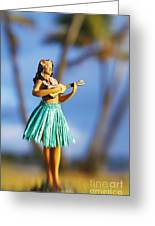 Punaluu, Hula Doll Greeting Card