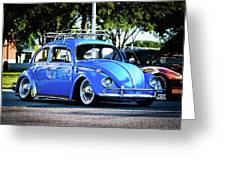 Punch Buggie Blue Greeting Card