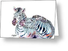 Punda Milia Zebra Greeting Card