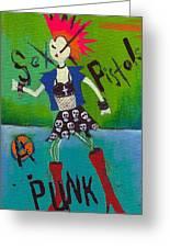 Punk Rocks Her Greeting Card