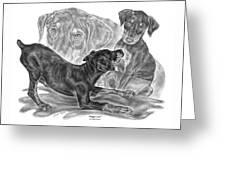 Puppy Love - Doberman Pinscher Pup Greeting Card