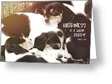 Puppy Pile Quote Greeting Card