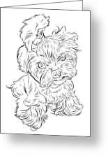 Puppy_printfilecopy Greeting Card