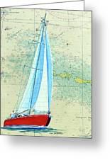 Pure Michigan Boating Greeting Card