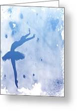 Purple Ballerina Silhouette Greeting Card