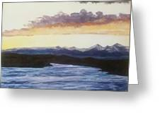 Purpellow Landscape Greeting Card
