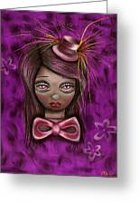 Purple Greeting Card by  Abril Andrade Griffith