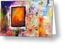Purple Abstract Oil Painting Purplicious Greeting Card