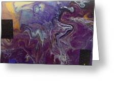 Purple Abyss Greeting Card