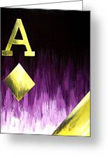 Purple Aces Poker Art2of4 Greeting Card