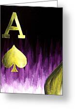 Purple Aces Poker Art4of4 Greeting Card