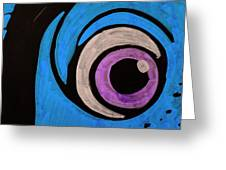 Purple And Blue Eyeball In Saint Augustine Florida Greeting Card