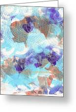 Purple And Blue In The Round Greeting Card