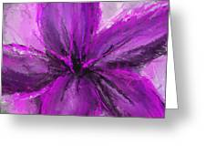 Purple And Gray Art Greeting Card