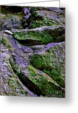 Purple And Green Rock Greeting Card