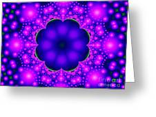 Purple And Pink Glow Fractal Greeting Card
