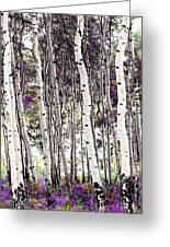 Purple Aspens Greeting Card