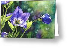 Purple Bell Flower Greeting Card