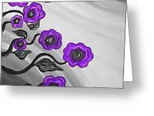 Purple Blooms Greeting Card by Brenda Higginson