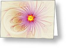 Purple Blossom Greeting Card