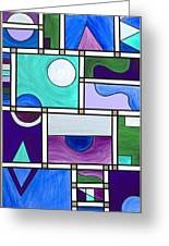Purple-blue-green Abstract 1 Greeting Card