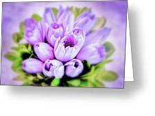 Purple Bouquet Greeting Card