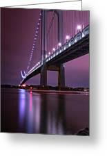 Purple Bridge Greeting Card