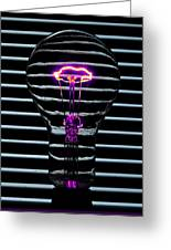 Purple Bulb Greeting Card