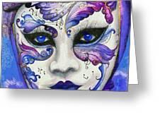 Purple Carnival Greeting Card